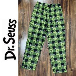 Dr Seuss Ugly Christmas Grinch Fleece Pajama Pant